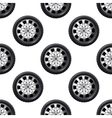 Automobile wheel seamless pattern vector