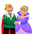 Mature king and queen vector