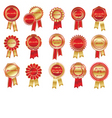 Award rosettes vector