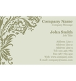 Victorian damask business card vector