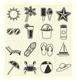 Summer beach icons vector