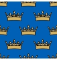 Seamless pattern of gold crowns vector