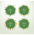 Collection labels with fresh fruits vector
