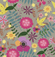 Seamless print with wild summer flowers vector