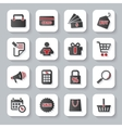 Set of flat modern shopping web icons vector