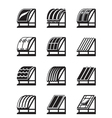 Modern building materials for roofs vector