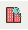Search building thin line icon vector