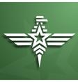 Military style eagle emblem vector