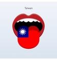 Taiwan language abstract human tongue vector