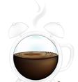 Coffee cup alarm clock vector