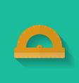 Protractor icon flat style vector