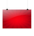 Red sale banner vector