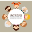 Portrait of happy stylish family parents and kids vector