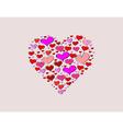 Hand-drawn valentines day big love heart vector