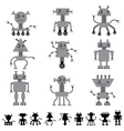 Little abstract robot doodle collection vector