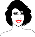 Women face and hairstyle vector