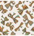 Vintage holidays seamless pattern vector