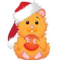 Christmas hamster vector