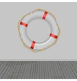Life buoy boards background ropes vector