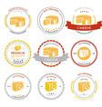 Set of premium cheese labels badges vector
