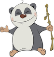 Bear panda cartoon vector