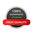 Hundred percent guarantee colorful labels vector