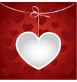 Heart on a string frame vector