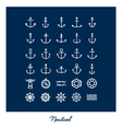 Nautical icons vector