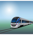 High speed train at sunny day vector