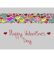 Hand-drawn valentines day decorative background vector
