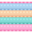 Wedding set of ribbons with hearts vector