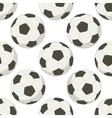 Soccer balls seamless background vector