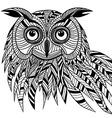 Owl bird head as halloween symbol vector