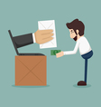Businessman online shopping e-commerce concept vector