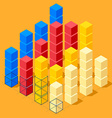 Infographics with cubes vector
