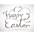 Happy easter sign vector