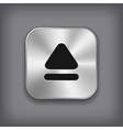 Up arrow icon - metal app button vector