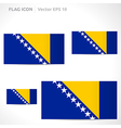 Bosnia and herzegovina flag template vector