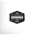 Retro summer label in doodle sketch style isolated vector
