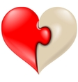 Puzzle heart icon vector