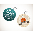 Old round retro vintage grunge tags vector