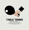 Table tennis indoor sport vector