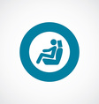 Car seat icon bold blue circle border vector