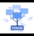 Forum tree in blue color vector