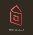 Business logo simple house geometric icon design vector