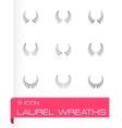 Laurel wreaths icon set vector