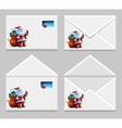 Envelope with letter picture of santa claus vector