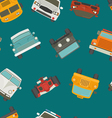 Seamless cars background and pattern vector