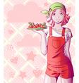 Strawberry girl vector