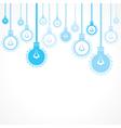 Blue bulb background vector